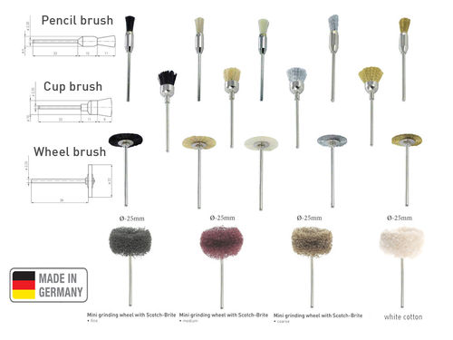 Cleaning Brushes for rotary tool