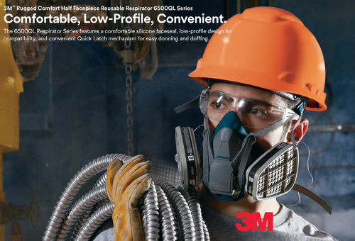 3M 6500QL Reusable Half Mask