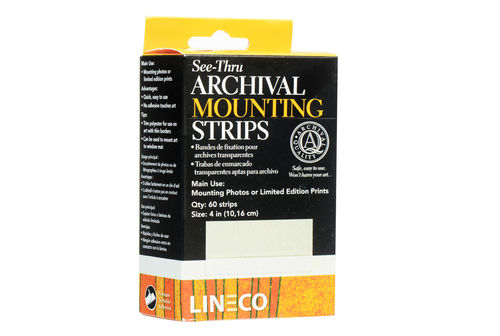 Lineco See-Thru Polyester Mounting Strips