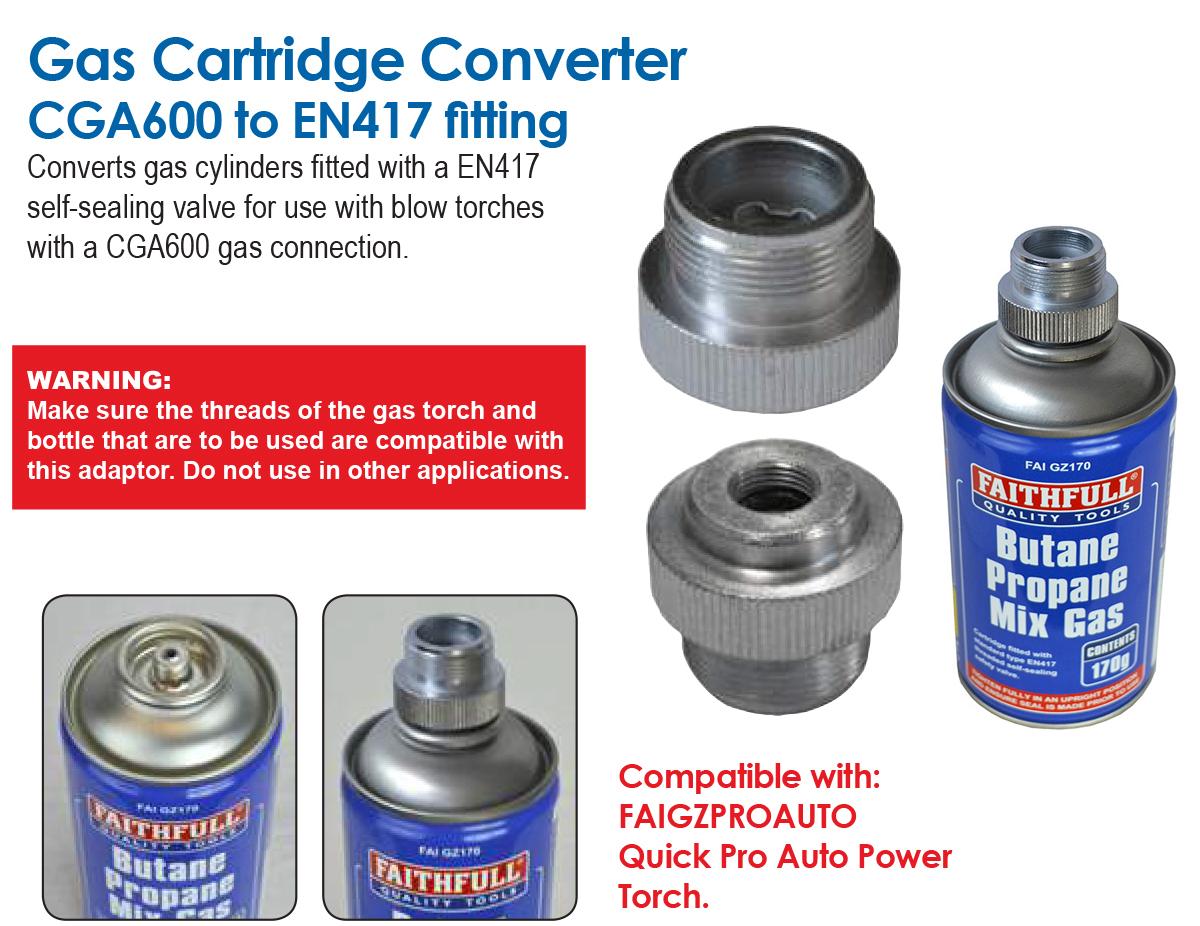 Gas Cartridge Converter