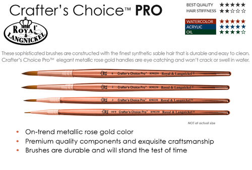Royal Crafter's Choice Pro Synthetic Sable Round Brush